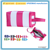 stripe pvc leather hanging cosmetic bag travel makeup bag
