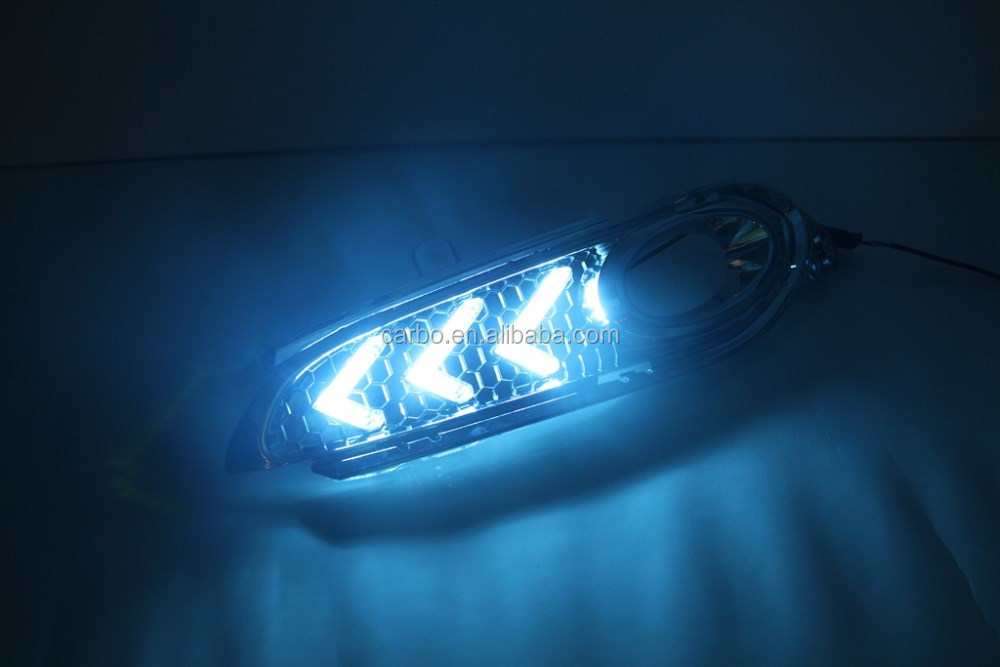 Daytime Running Lights for honda hrv Vezel with dimmer function High Quality Super Bright White DRL