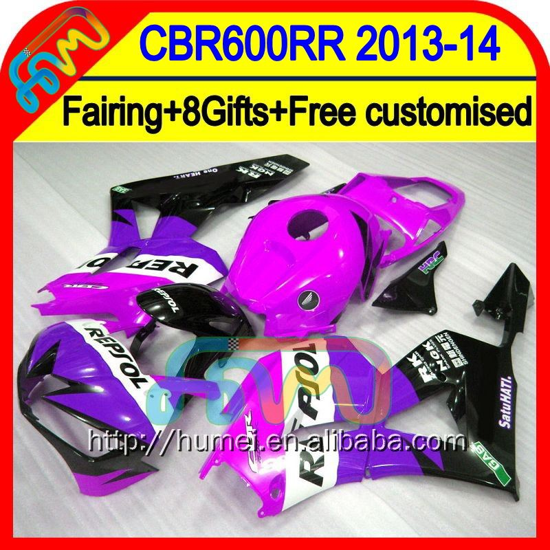 8Gifts Injection Repsol purple For HONDA CBR600RR 13 14 28HM55 CBR 600RR 600 RR 2013 2014 CBR600 RR Purple blk F5 13-14 Fairing