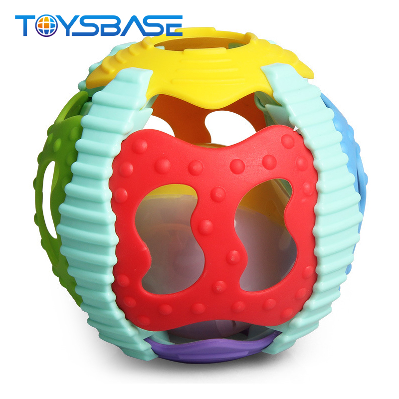 Funny Baby Toy Colorful Sport Ball With Music Light Soft Rubber Ball