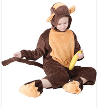 Halloween costumes European and American children monkey loaded animals play children's performance cosplay clothes