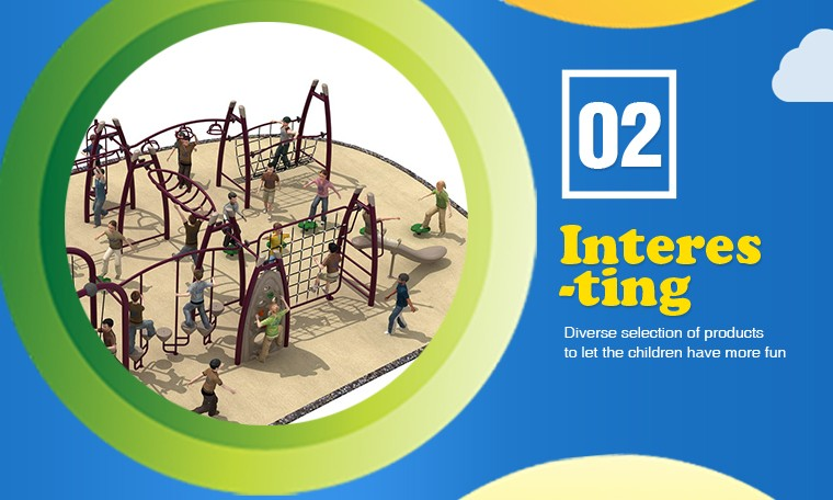 2017 Children adventure funny outdoor round climbing playground outside