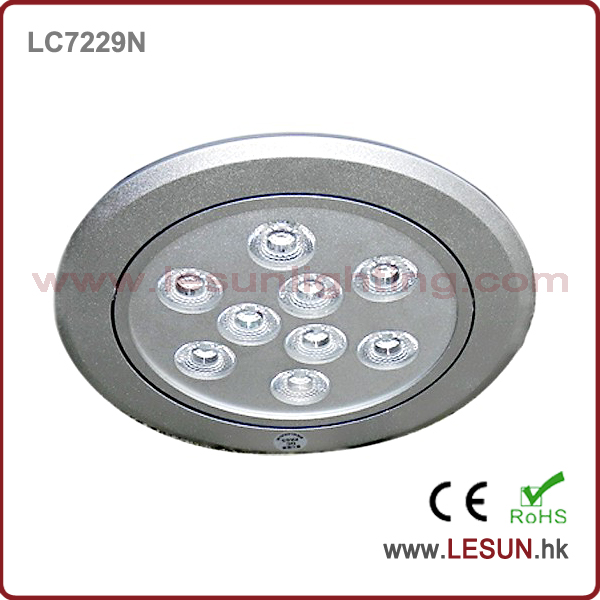 Silver/black housing 9W led recessed ceiling lamp LC7229N