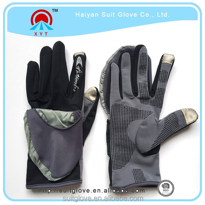 professional two finger gloves touch screen and men women winter touch screen gloves