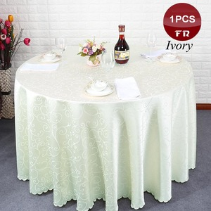 Polyester Wedding Table cloth Jacquard Red Round desk Cloth Hotel Party Table Cover Decor White Solid Table Linens