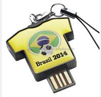Professional USB Manufacture OEM/ODM Soccer T shirt Player USB Flash