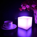 rechargeable plastic led portable iluminated table lamp for bar hotel bedroom