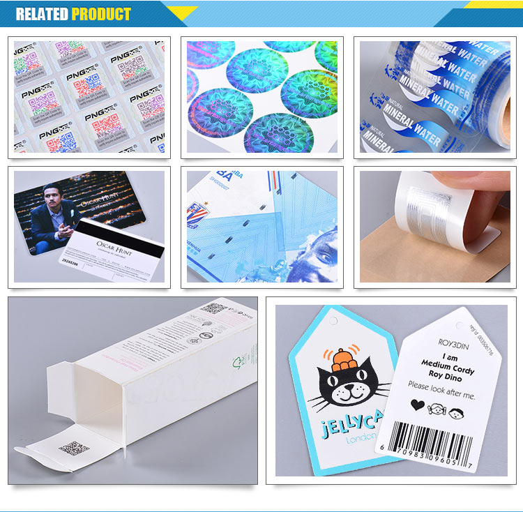 Anticounterfeit Whole Sticker Password Custom Adhesive Sticky Label, Adhesive Logo Sticker