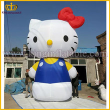Good Quality Lovely Fixed Inflatable Cartoon, Inflatable Hello Kitty Cartoon