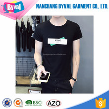 Casual slim fit short sleeve mens t shirts 100% cotton premium printed t shirts apparel made in China