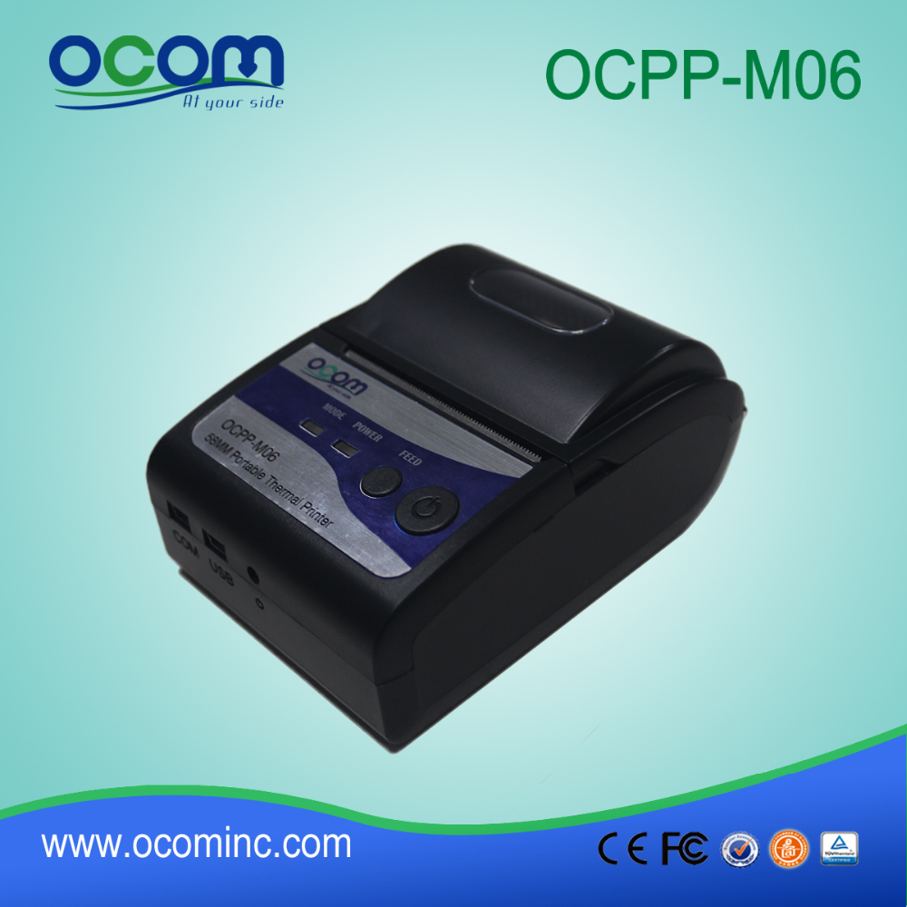 OCPP-M06: 58mm Android IOS buletooth portable handheld receipt POS mini printer for mobile