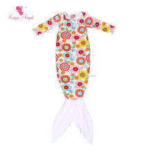 Floral Printed Cotton Girls Romper Baby Sleeping Bag Night Gown Infant Girl Clothing