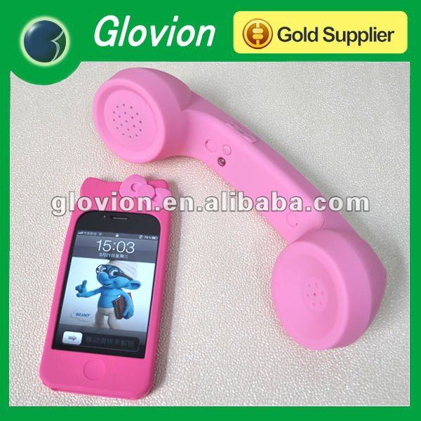 Hot sale bluetooth wireless retro pop phone handset pink moshi pop phone handsets smart phone handset