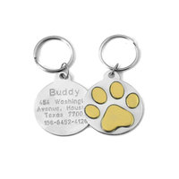 Custom Personalized Engrave Stainless Steel ID Pet dog Tags With Your Logo