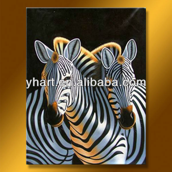 Hot sell abstract zebra oil painting on canvas