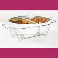 UNICASA New Design Ceramic Casserole dish with rack stand and glass lid set