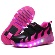 Factory Price Girls/Boys LED Light shoes, Children Roller Skate Shoes, Kids Sneakers With Single Wheels