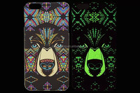 Luminous Tiger Glow In The Dark Hard Back Cover Case For Apple iphone 5 5s 5G