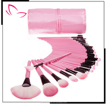 2015 hot sale 32 piece makeup brushes free samples