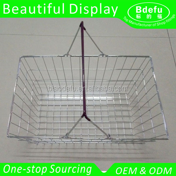 Chrome Finishing Wire Shopping Basket Factory Wholesale Price