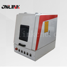Enclosed fiber metal printing marking machine / color laser printer for metal,watches,camera,auto parts,buckles