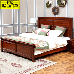 Carved solid wood queen size bed