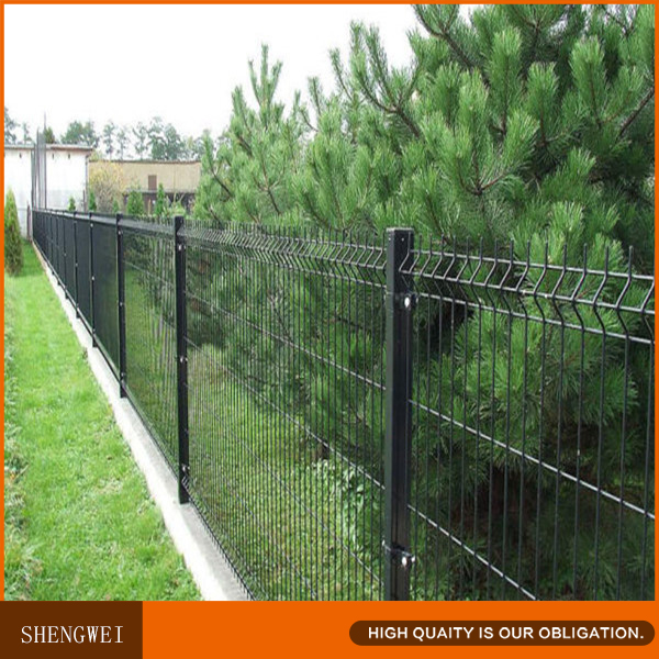 Cheap welded mesh curved security fence home depot buy for Casas de pvc para jardin