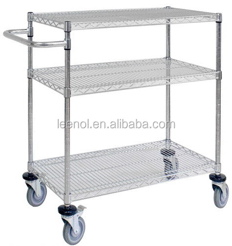 ESD Wire Shelf Hand Trolley