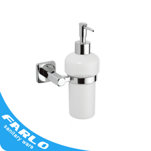 FUAO wall mounted ceramic manual liquid soap dispenser
