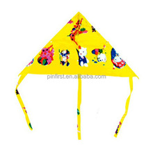 Traction Kites New Nylon & Plastic Triangle Yellow color kites