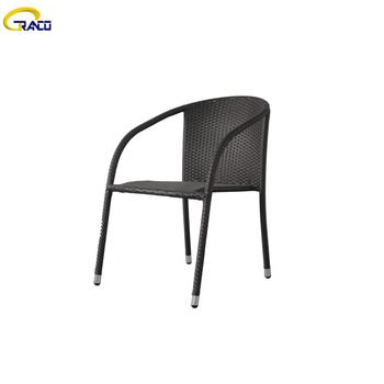 Best selling outdoor patio steel tube wicker chair