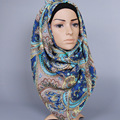 Wholesale ladies Vintage printed kerchief muslim wrap headband COTTON hijab scarf /scarves GBS338