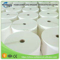 Absorbent tissue paper for sanitary pad