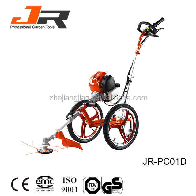 Chinese garden tool 43cc wheeled brush cutter/wheeled grass trimmer