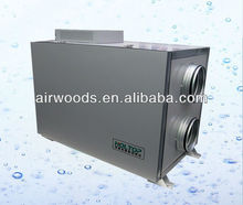 Auto bypass DC motor water coil heat recovery ventilation