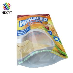 High quality food grade zipper stand up pouch food packaging bag/Grain cereal plastic packaging bag with window