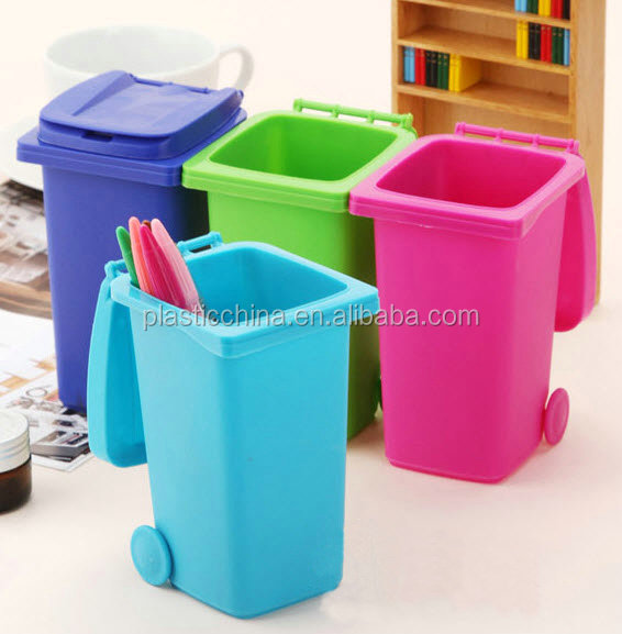 promotional wheelie bni nice desktop pen holder desktop recycling bin