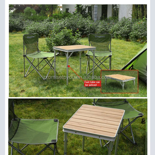 the portable Korea style bamboo furniture top small folding camping table