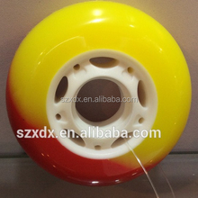 2015 new desgin roller skate wheel CNC pu wheel, high quality skating shoes wheel