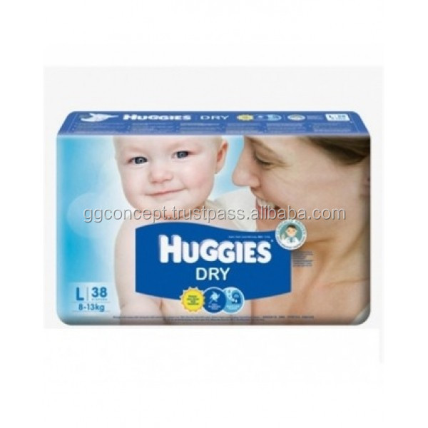 Huggies Dry Large (L 38)/diaper dry/sleepy baby diaper/cloth diaper