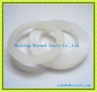 Clear flat silicone rubber gasket
