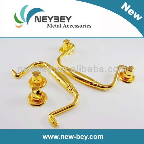 Zinc alloy Jewelry box handles in gold color BD201