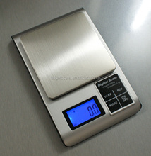 High Precision electronic big platform jewelry pocket scale 0.01g x 500g for Gold weighing