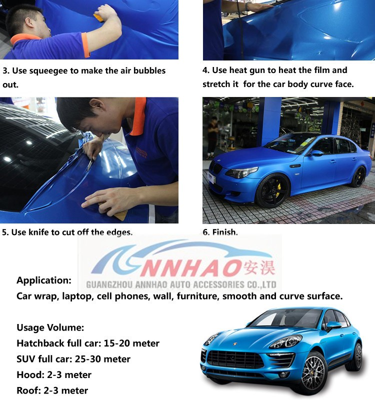 Annhao Air Bubble Free 1.52 x 20m Car Wrap Glossy Squeegee Vinyl