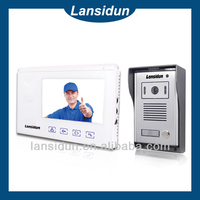 cheap wired intercom system 7 inch color competition video door phone