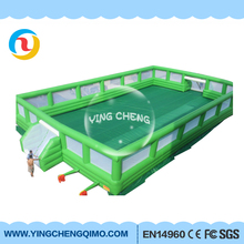 2017 yingcheng pvc inflatable soccer football field inflatable soap football field soccer
