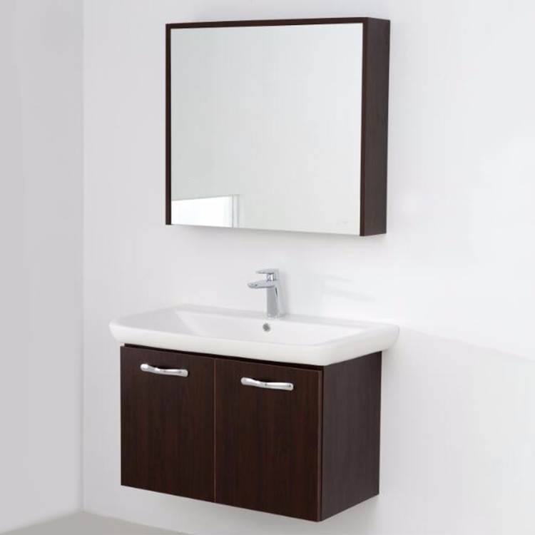modern simple design solid wood wall washbasin cabinet cheap chinese bathroom vanity