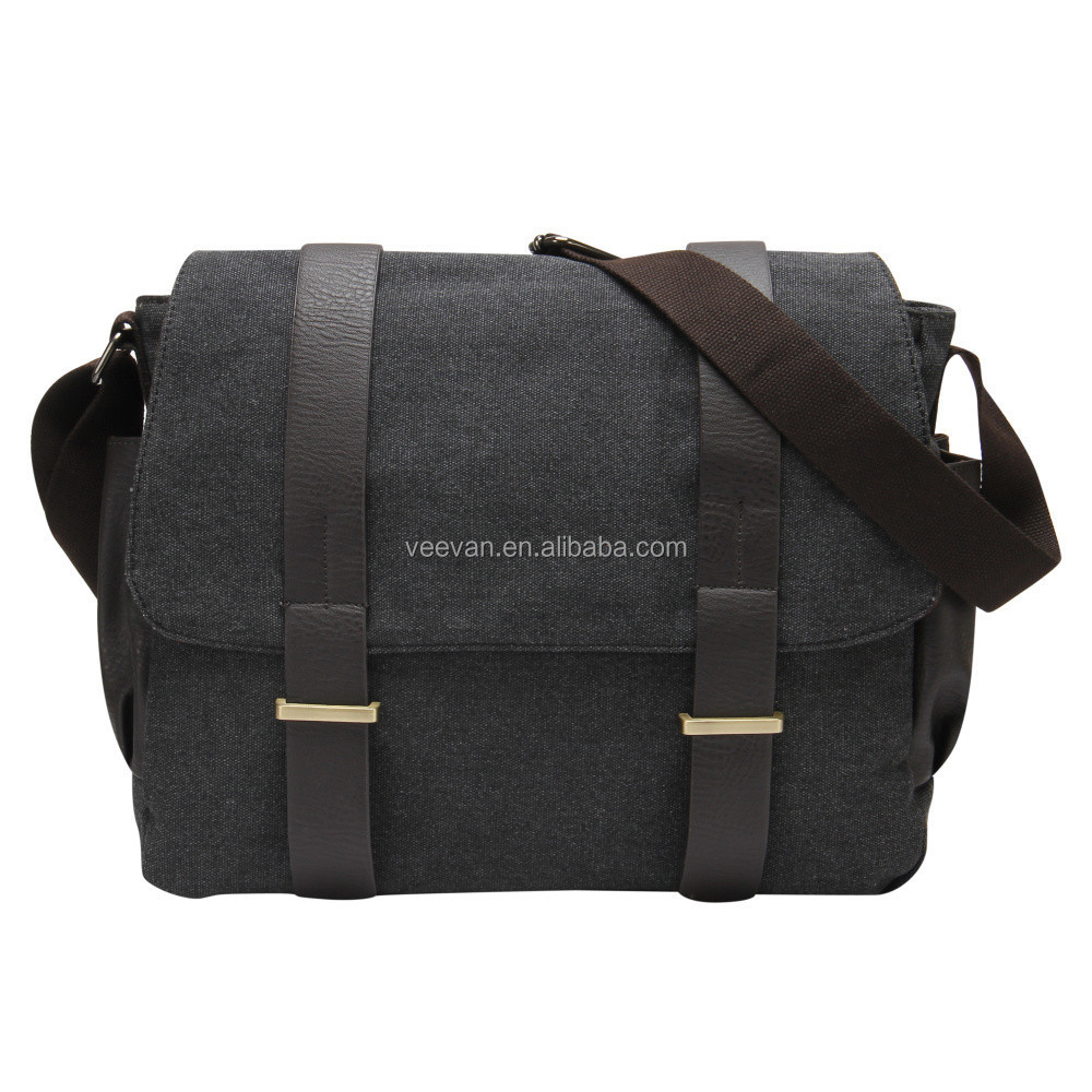 Men leisure trend korean canvas shoulder bag