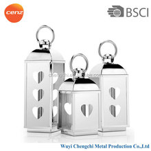 Wholesale outdoor stainless steel and glass Hurricane Lantern CCD-9626