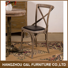 Wholesale crossback chair French Style X back side chair/Antique classic X cross back chair
